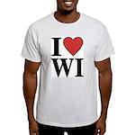 I Love Wisconsin Light T-Shirt
