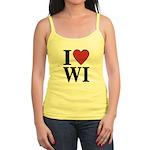 I Love Wisconsin Jr. Spaghetti Tank