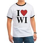 I Love Wisconsin Ringer T