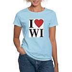 I Love Wisconsin Women's Light T-Shirt