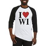 I Love Wisconsin Baseball Jersey