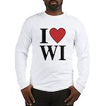 I Love Wisconsin Long Sleeve T-Shirt