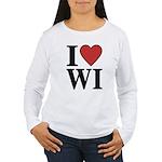 I Love Wisconsin Women's Long Sleeve T-Shirt