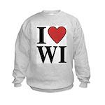I Love Wisconsin Kids Sweatshirt