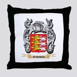 O'Brien Coat of Arms - Family Cre Throw Pillow