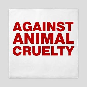 Against Animal Cruelty Queen Duvet