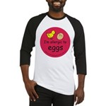 I'm allergic to eggs-red Baseball Jersey