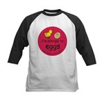 I'm allergic to eggs-red Kids Baseball Jersey