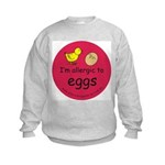 I'm allergic to eggs-red Kids Sweatshirt