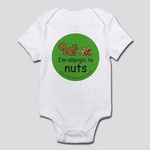 Nuts squirrel green Infant Bodysuit