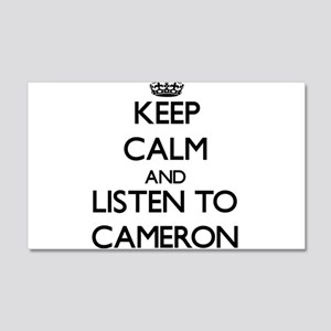 Keep Calm and Listen to Cameron Wall Decal