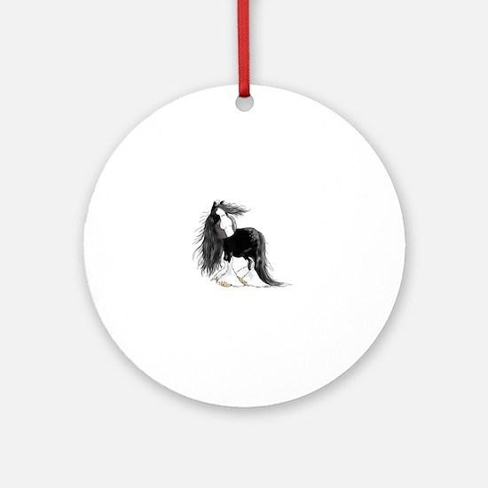 Cute Shire draft horse Round Ornament