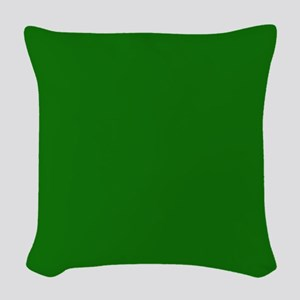 Solid Green Woven Throw Pillow