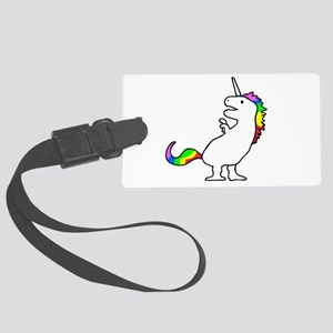Cute Dinocorn (T-Rex Unicorn) Large Luggage Tag