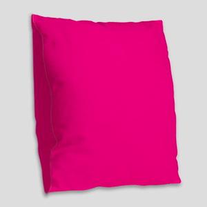 Hot Pink Solid Burlap Throw Pillow