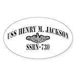 USS HENRY M. JACKSON Sticker (Oval)