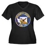 USS HENRY M. Women's Plus Size V-Neck Dark T-Shirt