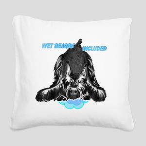 giant schnauzer wet beard inc Square Canvas Pillow