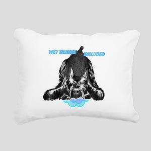giant schnauzer wet bear Rectangular Canvas Pillow
