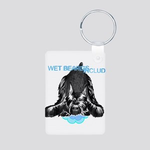 giant schnauzer wet beard Aluminum Photo Keychain