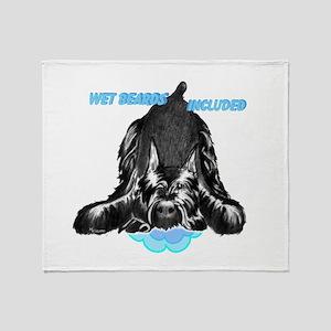 giant schnauzer wet beard included Throw Blanket