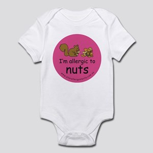 Nuts squirrel-pink Infant Bodysuit