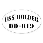USS HOLDER Sticker (Oval)