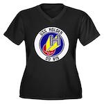 USS HOLDER Women's Plus Size V-Neck Dark T-Shirt