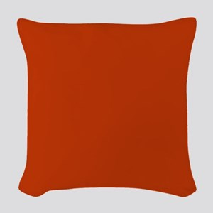 Solid Orange Woven Throw Pillow