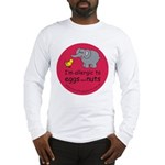 Eggs and nuts-red Long Sleeve T-Shirt