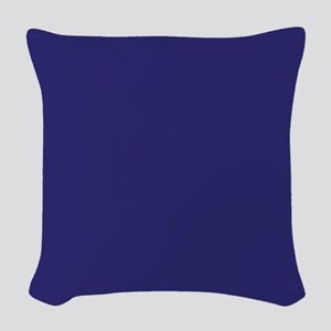 Solid Blue Woven Throw Pillow