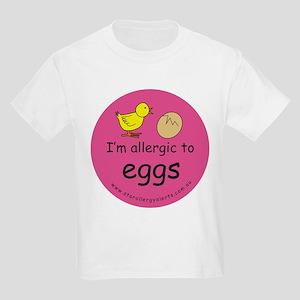 I'm allergic to eggs-pink Kids Light T-Shirt