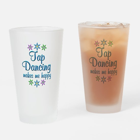 Tap Dancing Happy Drinking Glass