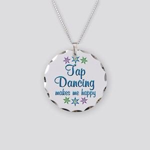 Tap Dancing Happy Necklace Circle Charm