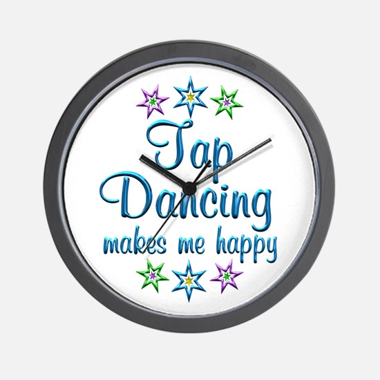 Tap Dancing Happy Wall Clock