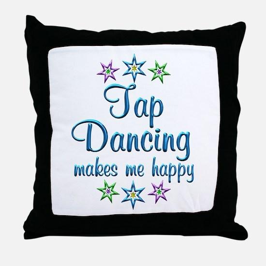 Tap Dancing Happy Throw Pillow