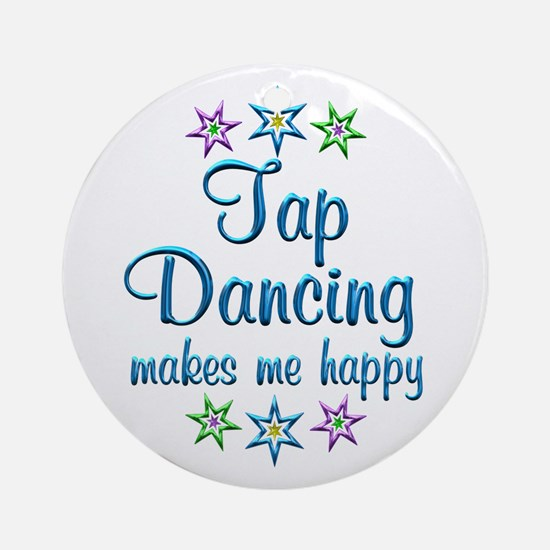 Tap Dancing Happy Ornament (Round)