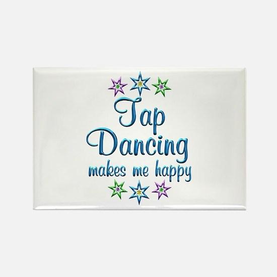 Tap Dancing Happy Rectangle Magnet