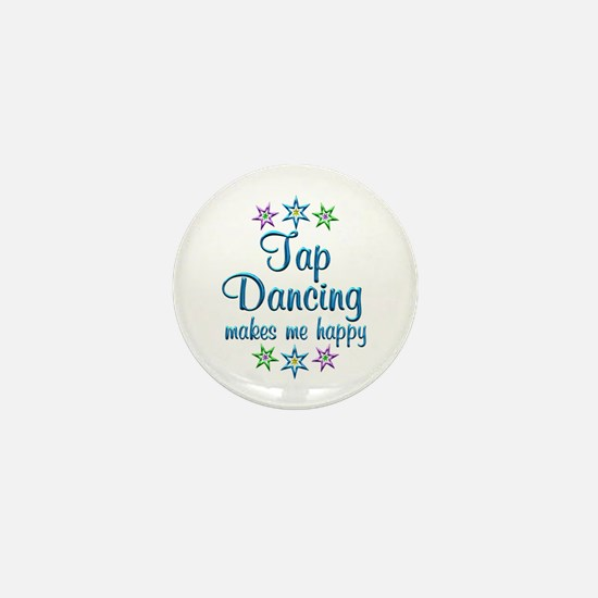 Tap Dancing Happy Mini Button