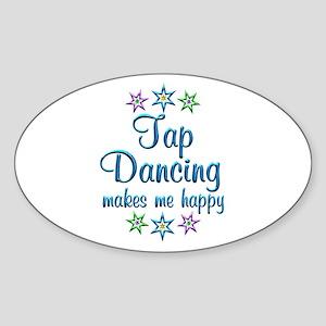 Tap Dancing Happy Sticker (Oval)