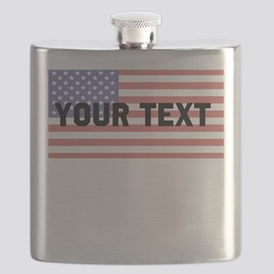 Editable American Flag Flask