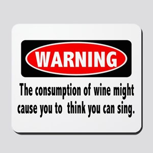 Wine Warning Mousepad