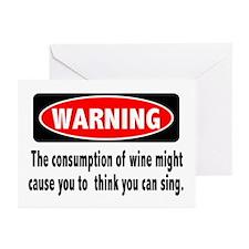 Wine Warning Greeting Cards (Pk of 10)
