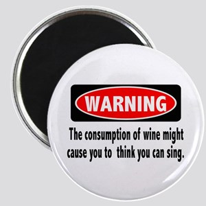 Wine Warning Magnet