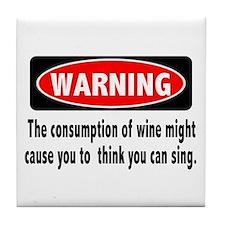 Wine Warning Tile Coaster