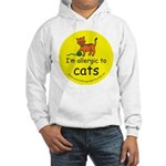 I'm allergic to cats Hooded Sweatshirt