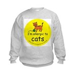 I'm allergic to cats Kids Sweatshirt