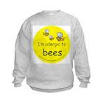 I'm allergic to bees Kids Sweatshirt