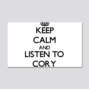 Keep Calm and Listen to Cory Wall Decal