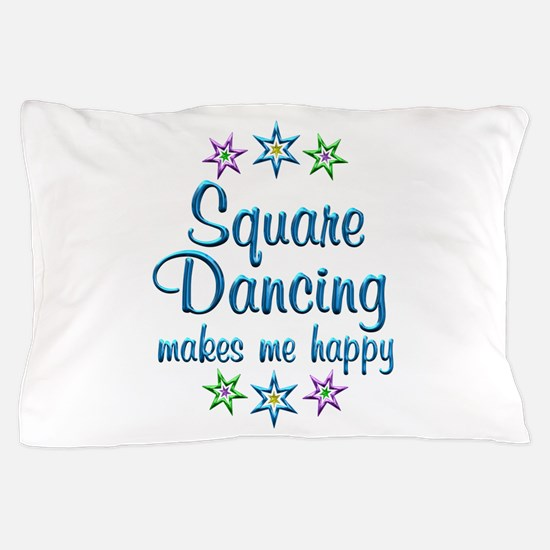 Square Dancing Happy Pillow Case